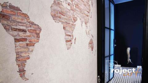 Dekoracja ściany, wzory i cegły